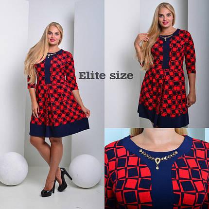 """Изящное женское платье с украшением ткань """"кукуруза"""" 44, 46 размер норма, фото 2"""