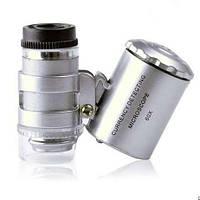Карманный микроскоп 60х с подсветкой, фото 1