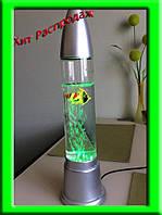 Воздушно-пузырьковый светильник с рыбками 38см