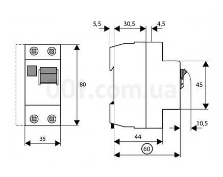 Пристрій захисного відключення PF6-63/2/05 (286503) Eaton, фото 2