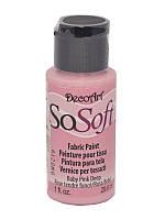 Краска акриловая для ткани DecoArt SoSoft 29мл Розовая