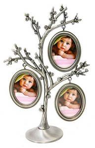 """Фоторамка  """"Семейное дерево"""" 3 фото, 23 см"""