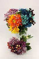 Искусственные растения Букет хризантем с ягодами 2223