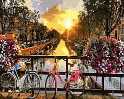 Картина раскраска по номерам без коробки Закат над Амстердамом (BK-GX21031) 40 х 50 см (Без коробки)