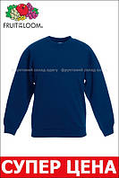 Детский классический свитер Тёмно-синий Fruit Of The Loom  62-041-32 7-8