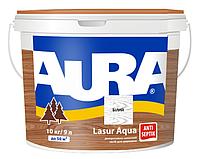 Лазурь-лак акриловый AURA LASUR AQUA для древесины белый 9л