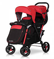 Детская прогулочная коляска для двойни  EASY GO FUSION DUO scarlet красная