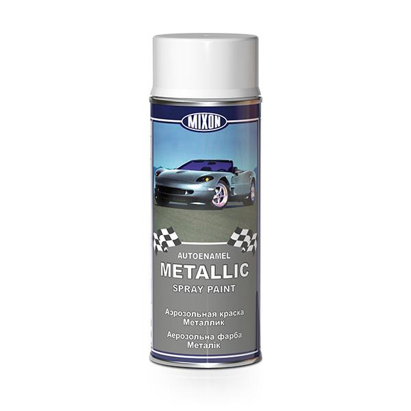 Аэрозольная авто эмаль металлик Mixon Spray Metallic. Серебряная 80201