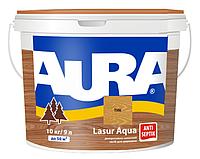 Лазурь-лак акриловый AURA LASUR AQUA для древесины цвета тик 9л