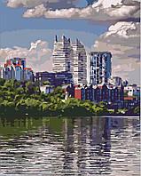 Раскраска по цифрам Идейка Днепр Лето в большом городе (KH2186) 40 х 50 см