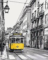 Рисование по номерам Идейка Жёлтый трамвайчик (KH2187) 40 х 50 см