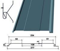 Металосайдинг доска безшовная Термастил RAL 3005  глянец 0,45 мм Китай Rogo