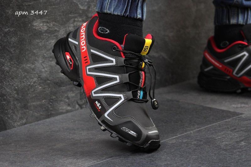 4acaae1cbf441d Чоловічі зимові кросівки Salomon Speedcross (3447) чорні з червоним - Камала  в Хмельницком