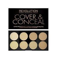 Makeup Revolution Корректор для лица Ultra Cover and Conceal Palette 10 g. № 1 Light