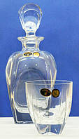 Набор для виски  Fjord 7предметов (штоф и 6 стаканов)