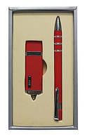 """Набор подарочный ручка и флешка на 4 Гб """"Красная"""")"""