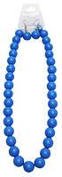 Набор украшений: бусы и серьги, голубой цвет, крупные