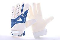 Перчатки вратарские детские Liga Sport G-12 бело-синие