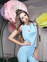 Женский костюм шанель брючный 01430 аф Код:569729349