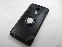 Противоударный чехол с кольцом Xiaomi Redmi Note 4X (черный), фото 1