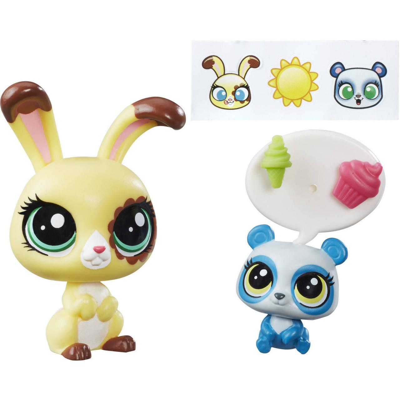 Littlest Pet Shop Зверюшка и ее малыш кролик Buttercream Sunday и панд
