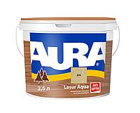 Лазурь-лак акриловый AURA LASUR AQUA для древесины цвета дуба 2,5л