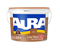 Лазурь-лак акриловый AURA LASUR AQUA для древесины цвета каштан 2,5л