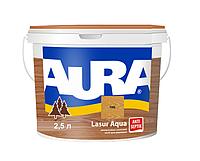 Лазурь-лак акриловый AURA LASUR AQUA для древесины цвета тик 2,5л