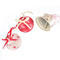 Новогодние колокольчики. Набор елочных украшений 3 шт.