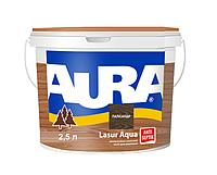 Лазурь-лак акриловый AURA LASUR AQUA для древесины цвета полисандр 2,5л