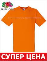 Мужская Футболка с V-Образным Вырезом Fruit of the loom Оранжевый 61-066-44 S