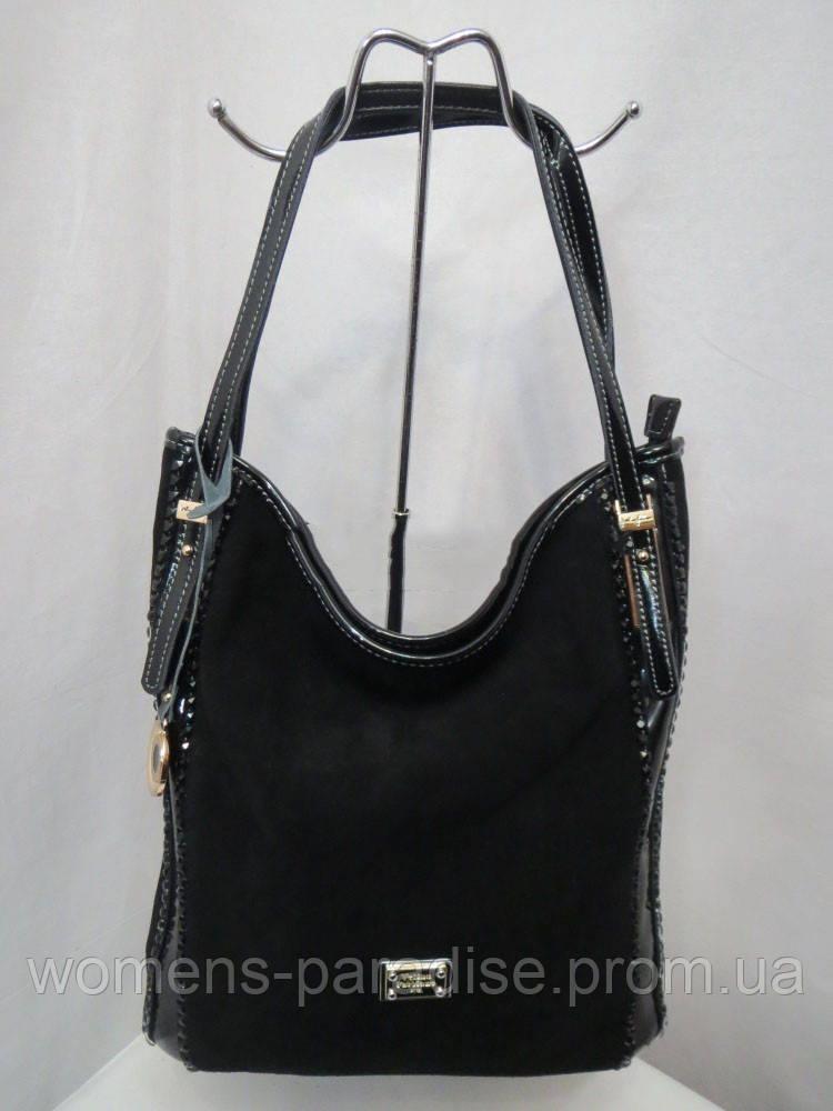 Синяя женская сумка из натуральной кожи и замша   продажа, цена в ... 0d9e15ec51c