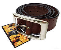 Ремень кожаный 303 Cinture коньяк