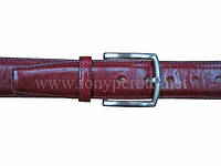 Ремень кожаный 203/40 Cinture красный