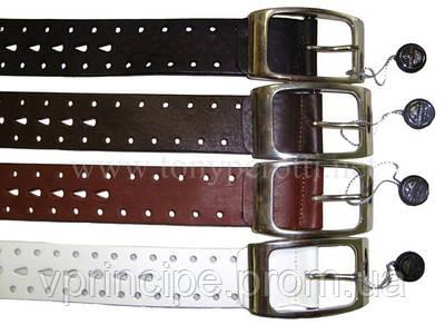 Ремень кожаный 306/40 Cinture черный