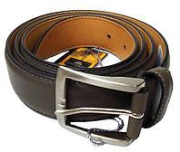 Ремень кожаный 414 Cinture серый