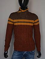 Мужской теплый свитер коричневый Турция 5176