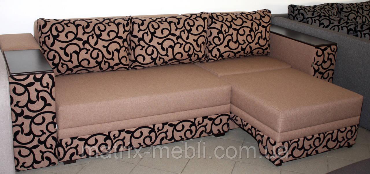 угловой диван кровать бостон 4 с мини баром и нишей угловой диван