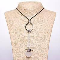 Кулон на  цепочке  Жемчужная пудра хайтек L-70см цвет металла черный Код:574777629
