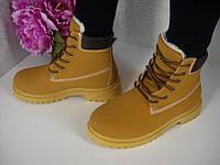 Женские зимние  рыжие ботинки Timberland