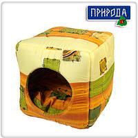 Домик для собак и кошек Кубик 40х40х37 см Природа