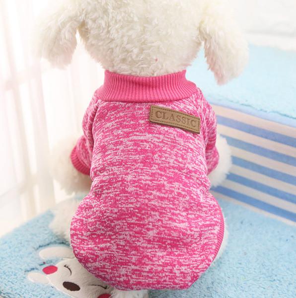 Толстовка - свитер для собак S розовая