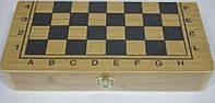 Шахматы подарочные деревянные 40*40см (3 в 1) пешка 4см