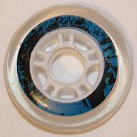 Колесо для Роликов UNI PU 80мм прозрачное с синей полоской