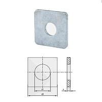 Шайба квадратная оцинкованная (поверхность оцинкование, норма DIN 436, норма PN 82010)