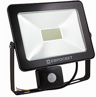 Прожектор 50W c датчиком движения 4000Lm 6400K IP65 EVRO LIGHT