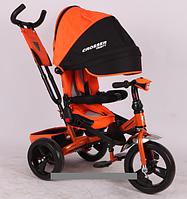 Трехколесный велосипед-коляска Azimut Crosser T-400 оранжевый
