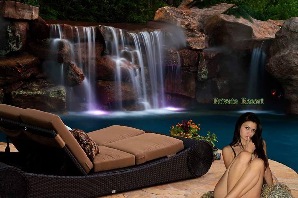 """Столешница-Водопад в ванную или сауну - Приватный Курорт   """"Private Resort """" в Харькове"""