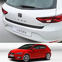 Seat Leon III 3/5 door 2012> пластиковая накладка заднего бампера, фото 1