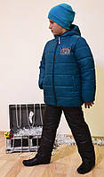 Зимний костюм на мальчика 122,128,134,140 (куртка+полукомбинезон)